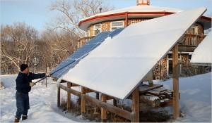Michigan studys solar panel capacity in wintery regions