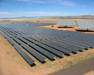 Solar power plant in a Arizona military base