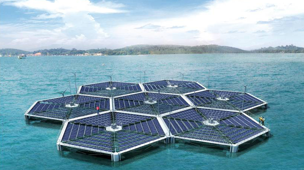 floating solar array solar energy news EnergySage