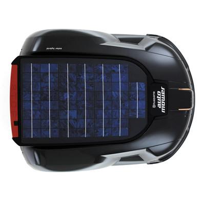 solar-powered hybrid lawn mower