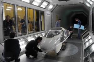 solar-powered racing car