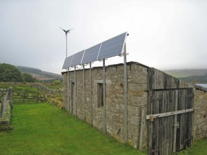 scotland solar panels and wind turbine