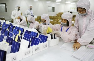 solar panels made in China